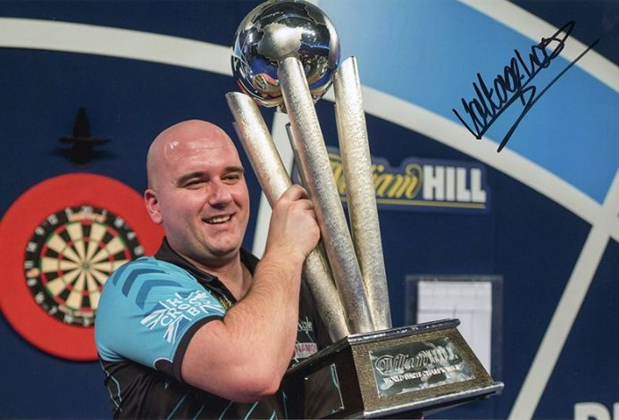 Rob Cross, PDC World Champion 2018, signed 12x8 inch photo.